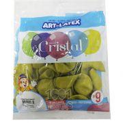 Balão Cristal Candy Amarelo 5 N09 24 unid Art Latex