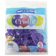 Balão Cristal Candy Lilás 5 N09 24 unid Art Latex
