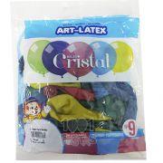Balão Cristal Candy Sortido N09 24 unid Art Latex