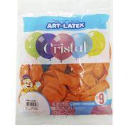 Balão Cristal Laranja 5N09 24 unid Art Latex