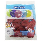 Balão Cristal Rosa 10 N09 24 unid Art Latex
