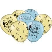 """Balão Especial 9 """" AZ AM Celebre a Vida C/25 unid - Festcolor"""