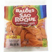 Balão Laranja Mandarim N05 50 unid São Roque