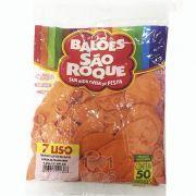Balão Laranja Mandarim N07 50 unid São Roque