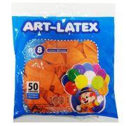 Balão Laranja N08 50 unid Art Latex