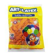 Balão Laranja N09 50 unid Art Latex