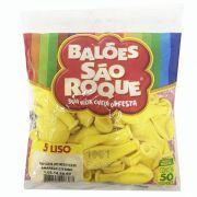 Balão  Amarelo Citrino N5 50 unid São Roque