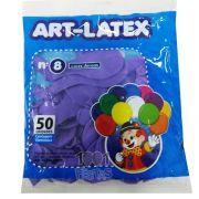 Balão Lilás N08 50 unid. Art Latex