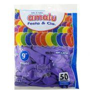 Balão Lilás N09 50 unid Amalu
