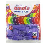 Balão Lilás N6,5 50 unid Amalu