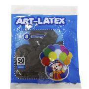 Balão Marrom N08 50 unid Art Latex