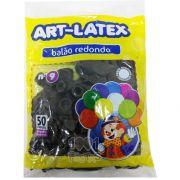Balão Marrom N09 50 unid Art Latex