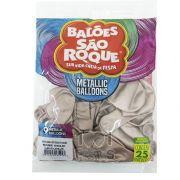 Balão Metallic Rose Gold N09  25 unid São Roque