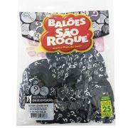 Balão  Interrogação Chá Revelação Preto N11 25 unid São Roque
