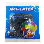 Balão Preto N08 50 unid Art Latex