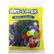 Balão Preto N09 50 unid Art Latex