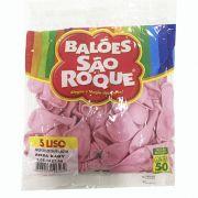 Balão Rosa Bebê N05 50 unid São Roque