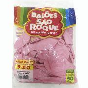 Balão Rosa Bebê N09 50 unid São Roque