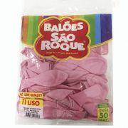 Balão Rosa Bebê N11 50 unid São Roque