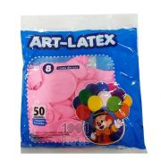 Balão Rosa Claro N08 50 unid Art Latex