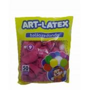 Balão Rosa Maravilha N09 50 unid Art Latex