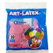 Balão Rosa N08 50 unid Art Latex