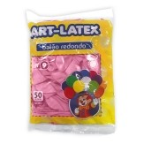Balão Rosa N09 50 unid Art Latex