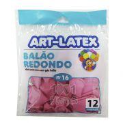 Balão Rosa N16 12 unid Art Latex