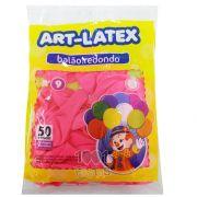 Balão Rosa Pink N09 50 unid Art Latex