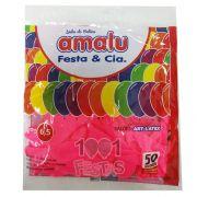 Balão Rosa Pink N6,5 50 unid Amalu