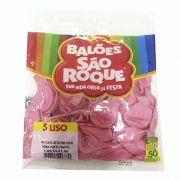 Balão Rosa Tutti Frutti N05 50 unid São Roque
