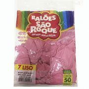 Balão Rosa Tutti Frutti N07 50 unid São Roque
