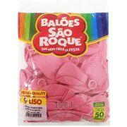 Balão Rosa Tutti Frutti N09 50 unid São Roque