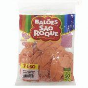 Balão Salmão N07 50 unid. São Roque
