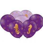 Balão Sereia C 25 unid Festcolor