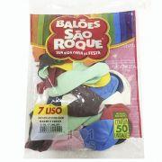 Balão Sortido N07 50 unid São Roque