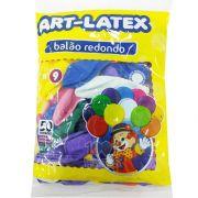 Balão Sortido N09 50 unid Art Latex
