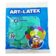 Balão Verde Claro N08 50 unid Art Latex
