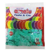 Balão Verde Claro N6,5 50 unid Amalu