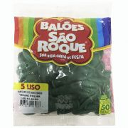 Balão Verde Folha N05 50 unid São Roque