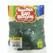 Balão Verde Folha N07 50 unid São Roque