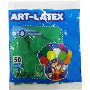 Balão Verde Folha N08 50 unid Art Latex