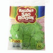Balão Verde Lima N07 50 unid São Roque