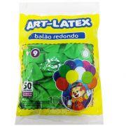 Balão Verde LIma N09 50 unid Art Latex