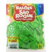 Balão Verde Lima N09 50 unid São Roque