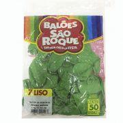 Balão Verde Maçã N07 50 unid São Roque