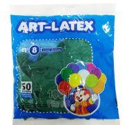 Balão Verde N08 50 unid Art Latex