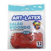 Balão Vermelho N16 12 unid Art Latex