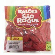 Balão Vermelho Quente N05 50 unid São Roque