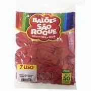 Balão Vermelho Quente N07 50 unid São Roque